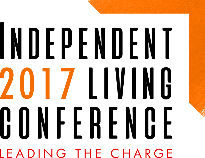 Logo of 2017 Independent Living Conference – Leading the Charge.