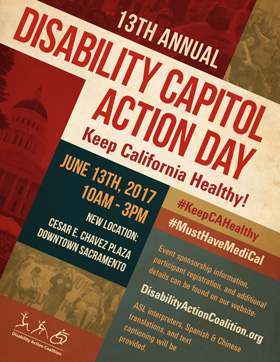 Graphic of the Disability Capitol Action Day flyer.