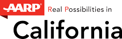 Logo of AARP California.