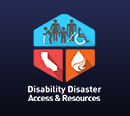Graphic of California Disability Disaster Access & Resources