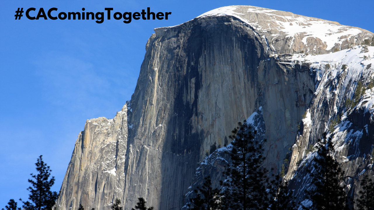 Image of Half Dome in California #CAComingTogether